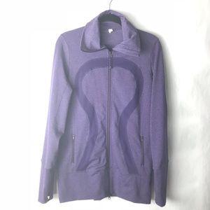 Lululemon nice Asana jacket purple Heathered 10